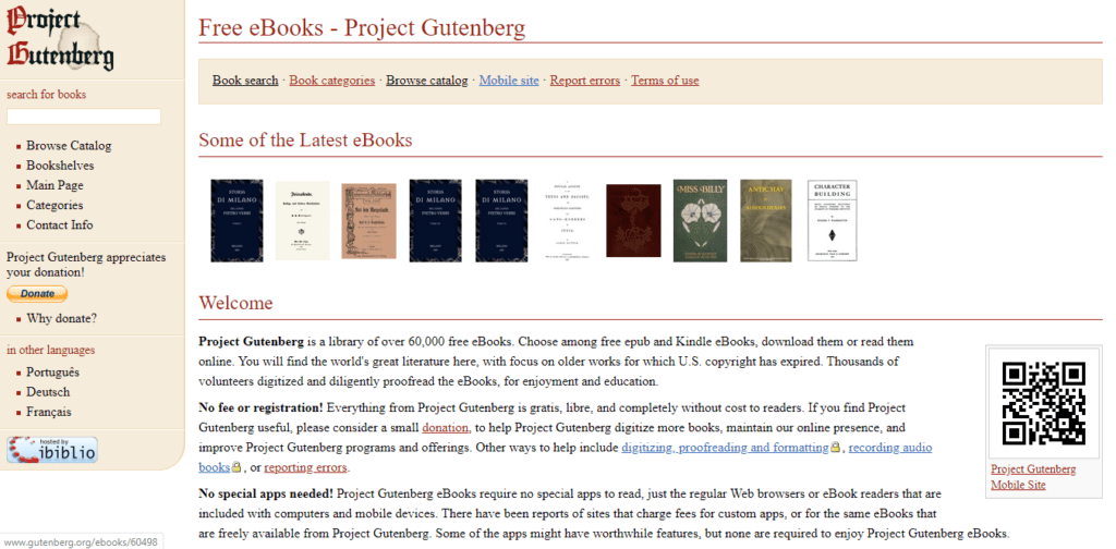 Project Gutenberg - Free E-Books
